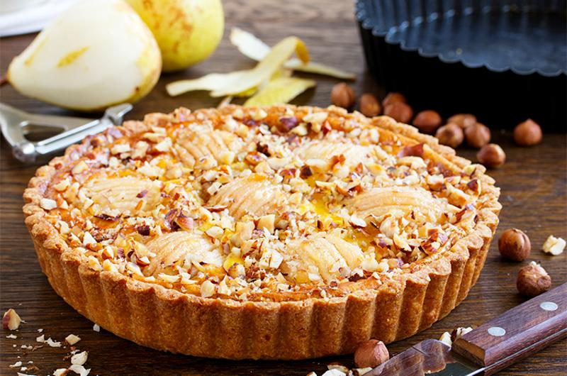 pear pie nuts marscarpone