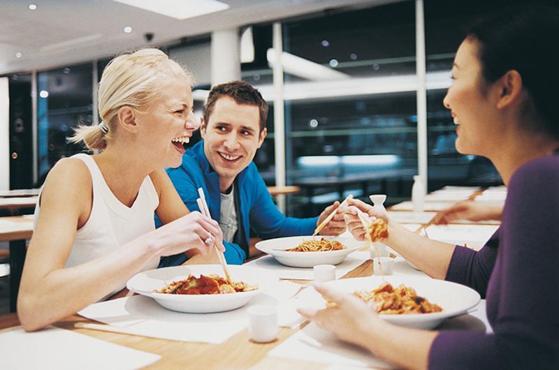 people eating restaurant