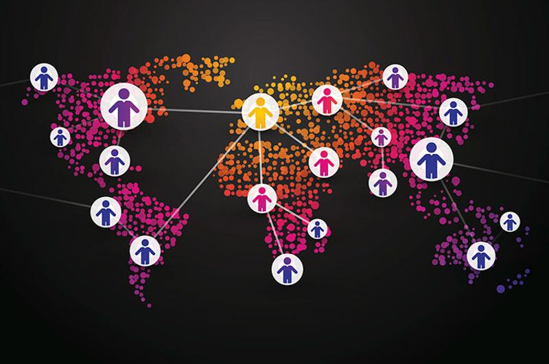 people world network map