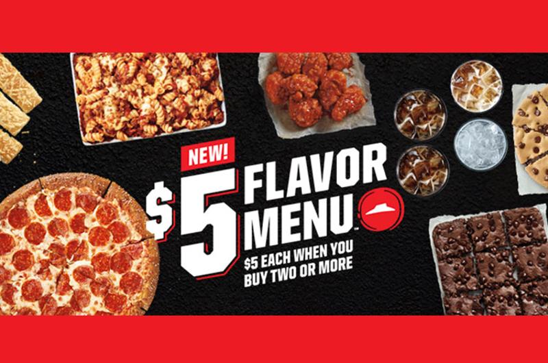 pizza hut five dollar flavor menu