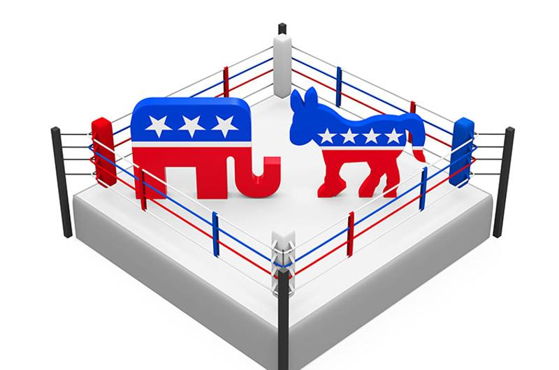 politics ring elephant donkey