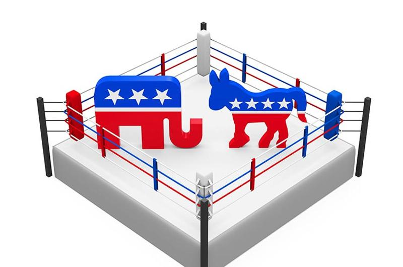 politics ring elephant donkey