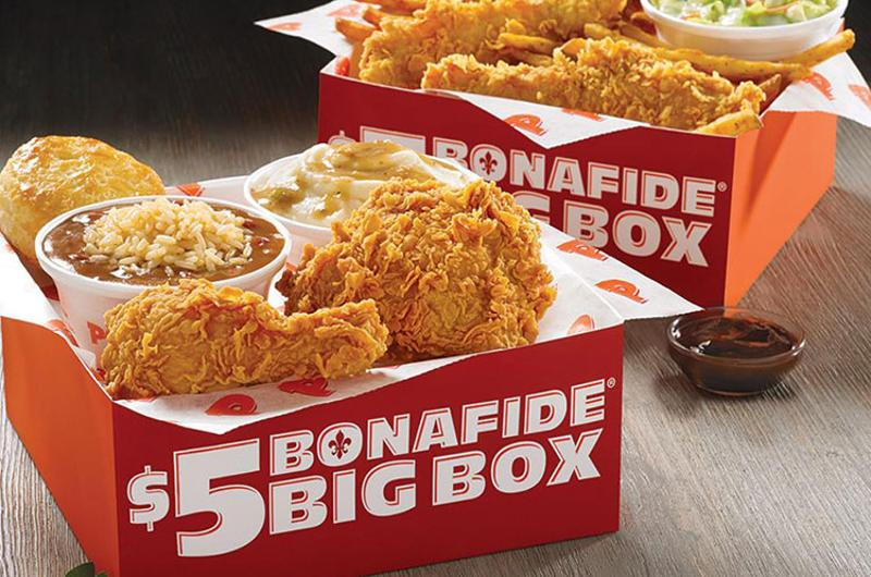 popeyes box meals