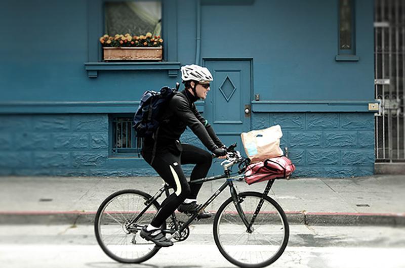 Postmates bike food delivery