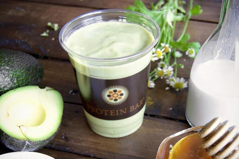 protein bar avocado shake