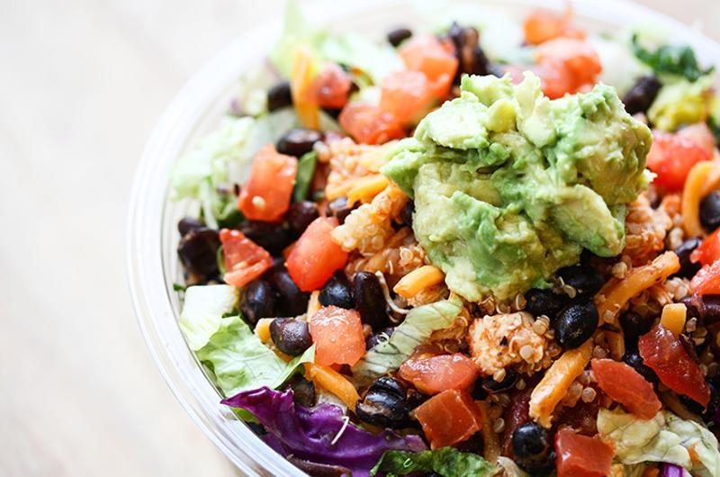 Southwest Salad, Protein Bar