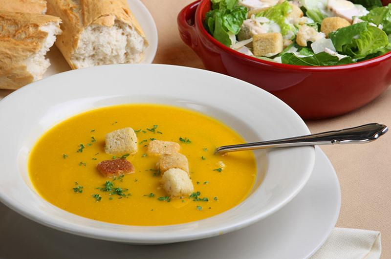 pumpkin soup salad