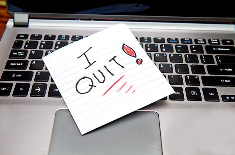 quit job laptop