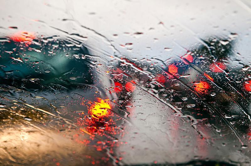rainy storm traffic