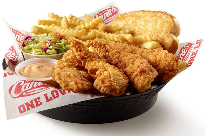 raising canes chicken fingers basket
