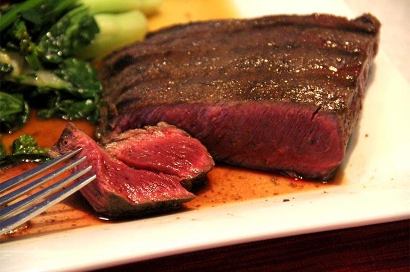 rare steak fork