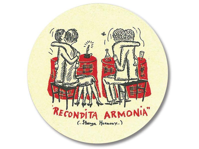 Recondita Armonia drink coaster