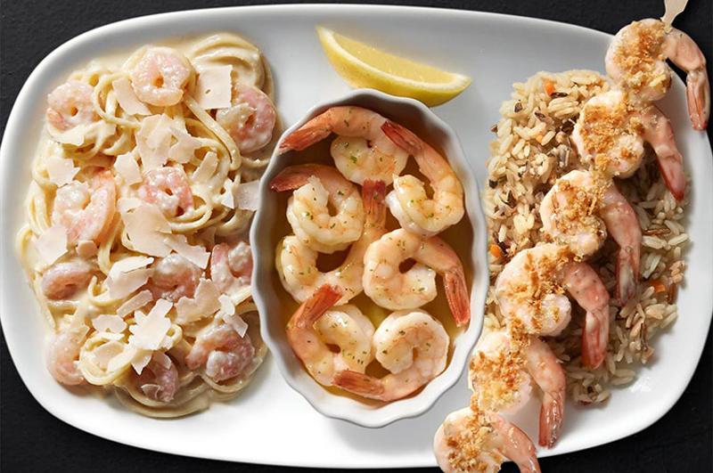 red lobster shrimp trio