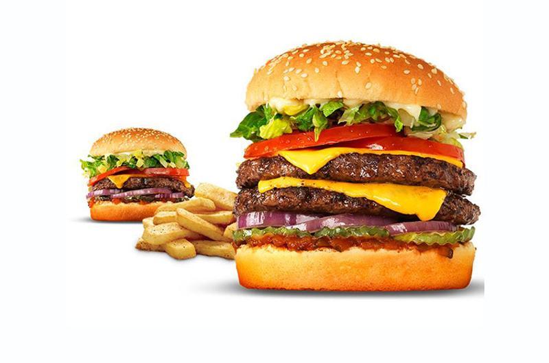 red robin cheeseburgers fries