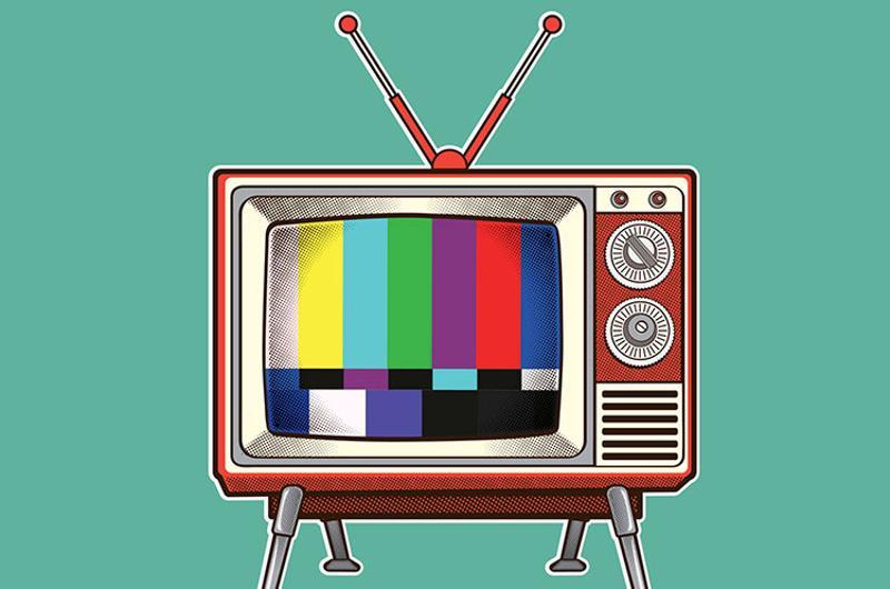 retro tv graphic