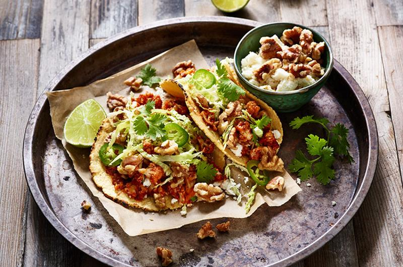 roasted walnut tacos