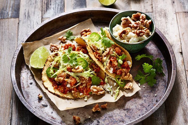 roasted walnut tacos