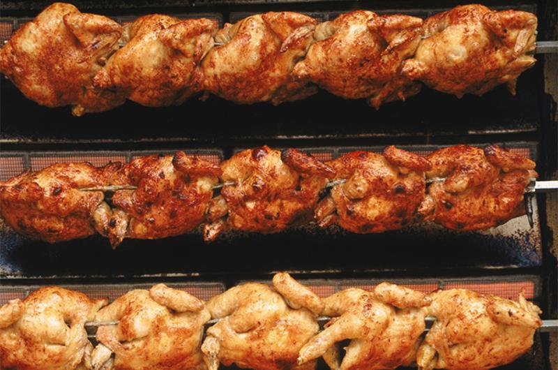 rotisserie chicken spits