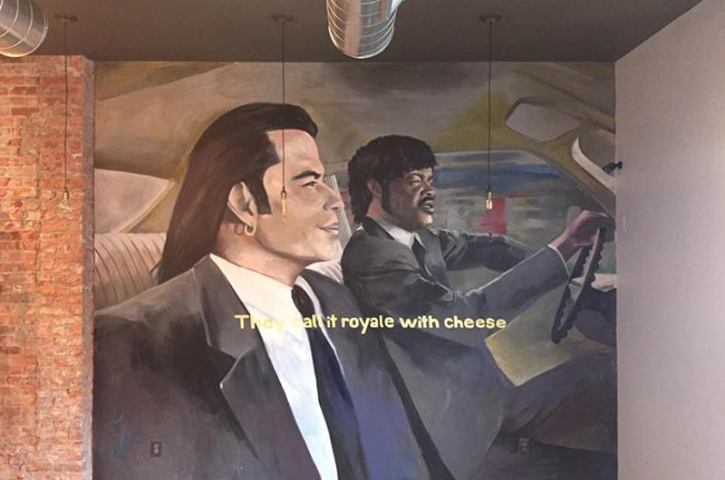 royale cheese mural