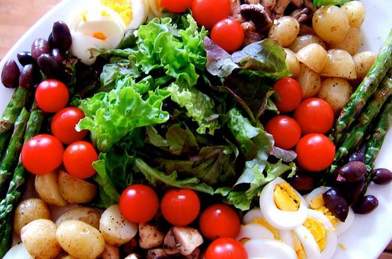 salad ingredients plate