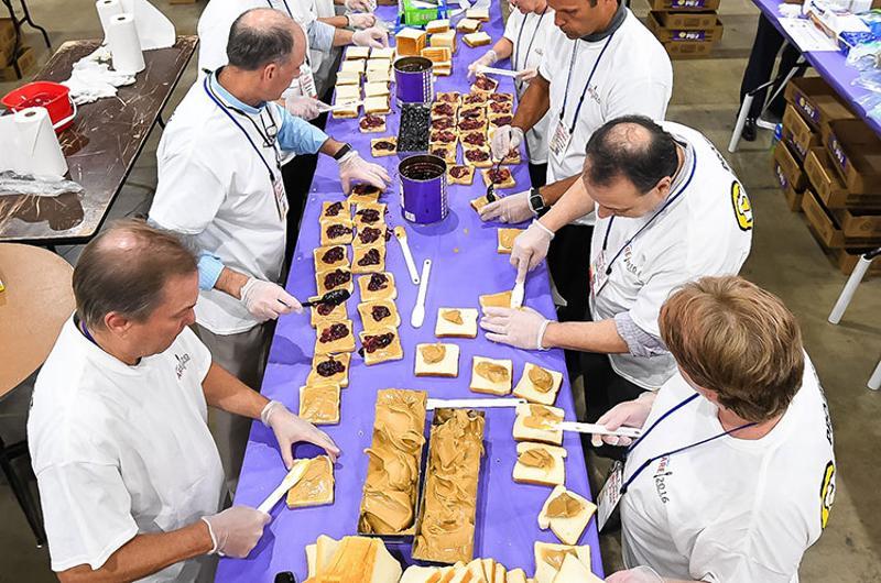 sandwich production line