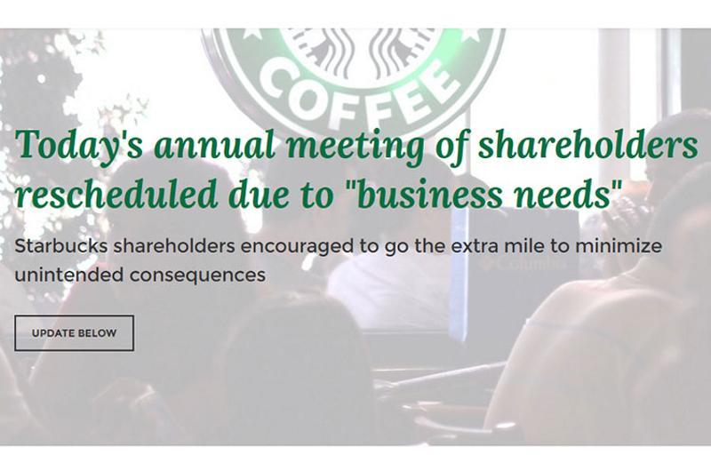 starbucks shareholder screenshot