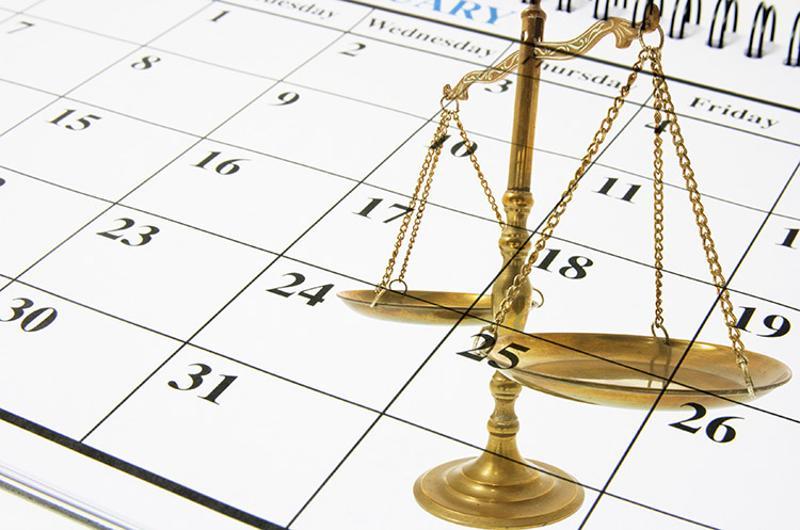 schedule calendar law
