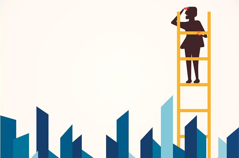 searching corporate ladder