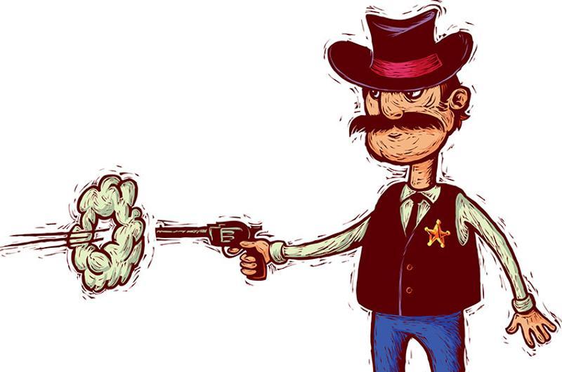 sheriff gun sketch