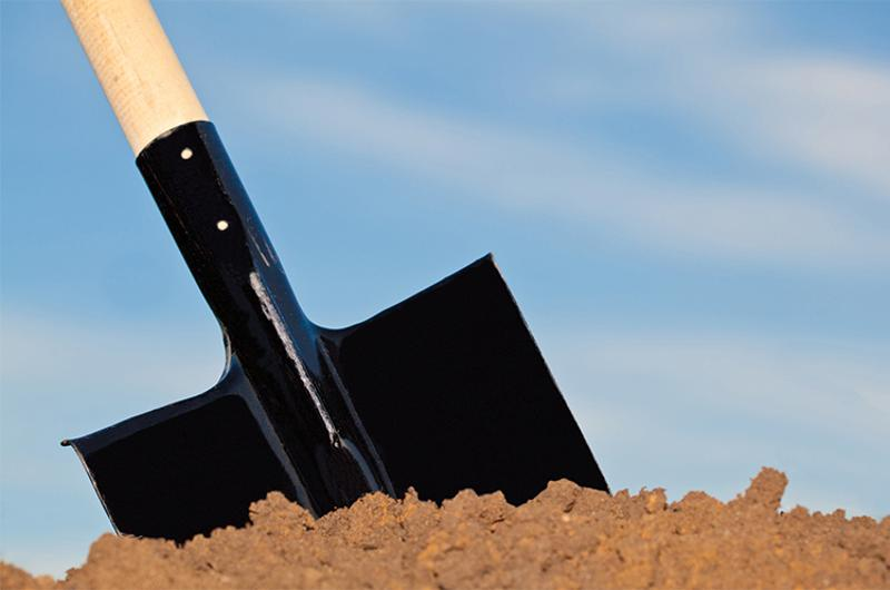 shovel break ground