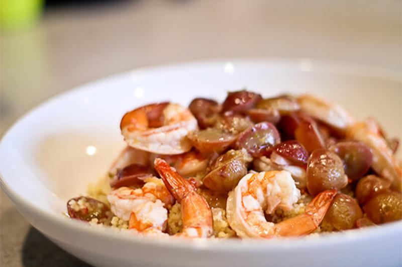 shrimp grapes