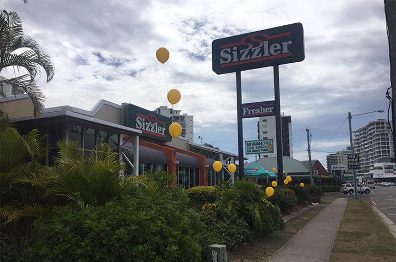 sizzler exterior