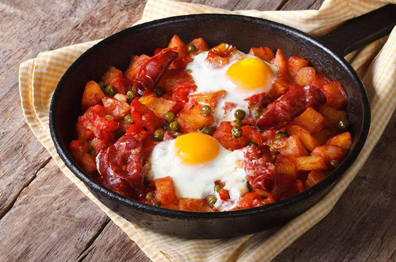 skillet ethnic eggs