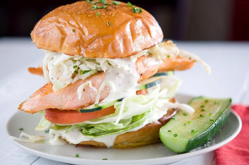 slapfish salmon sandwich