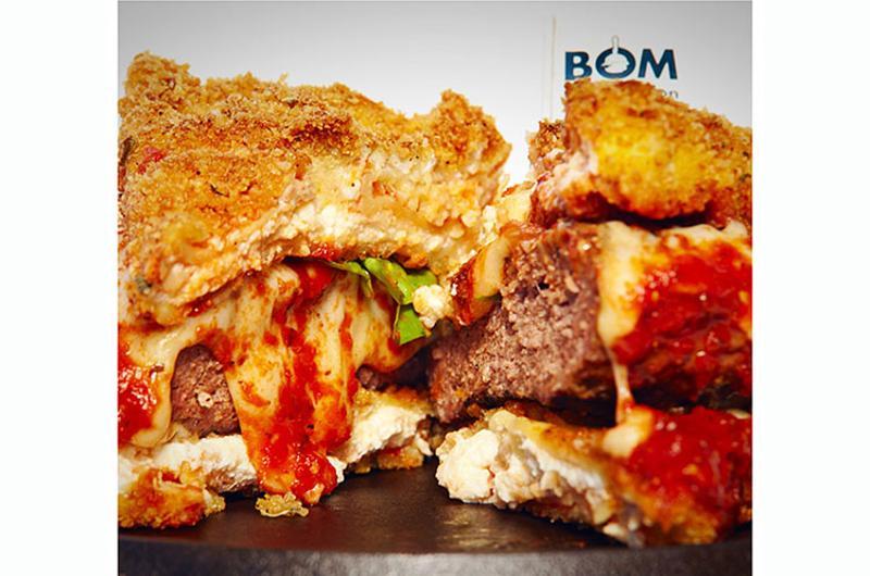 slaters fried lasagna burger