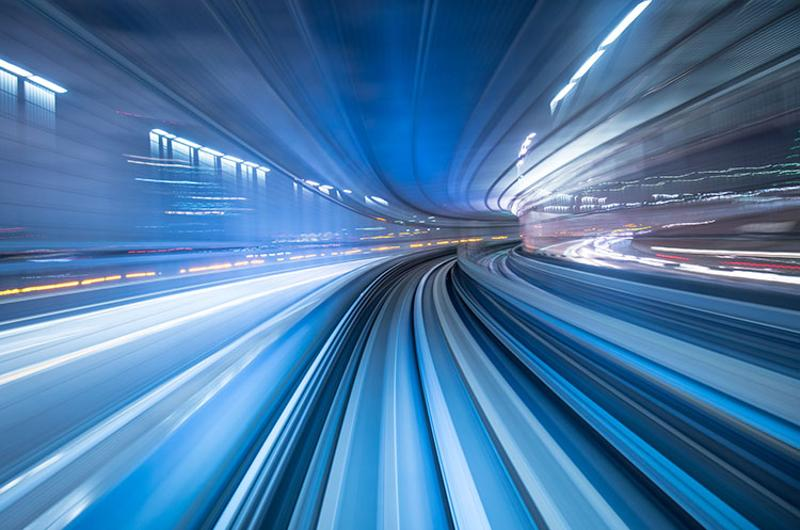 speed tunnel blur