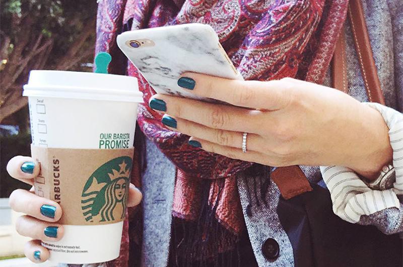 starbucks drink phone mobile
