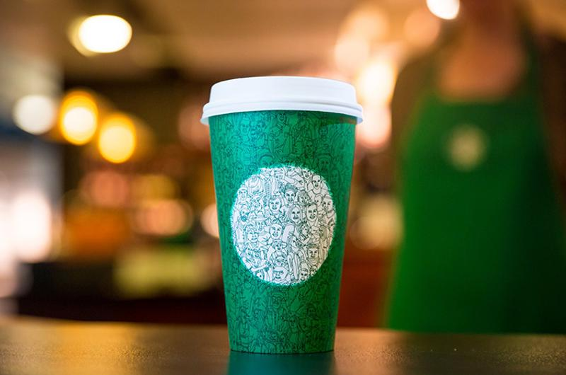 Starbuck's green cup