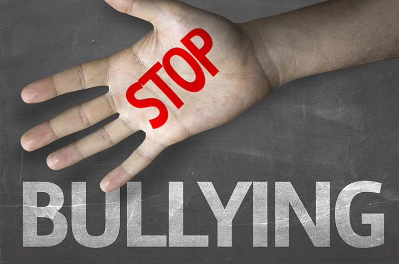 stop bullying hand