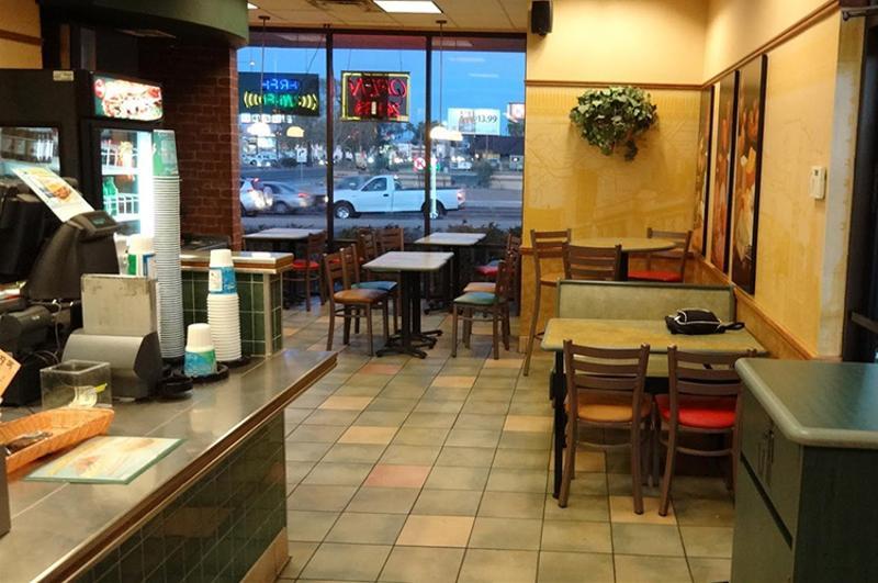 Subway restaurant empty