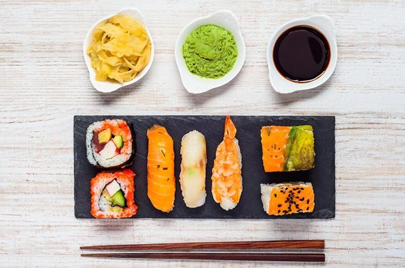 sushi wasabi soy ginger