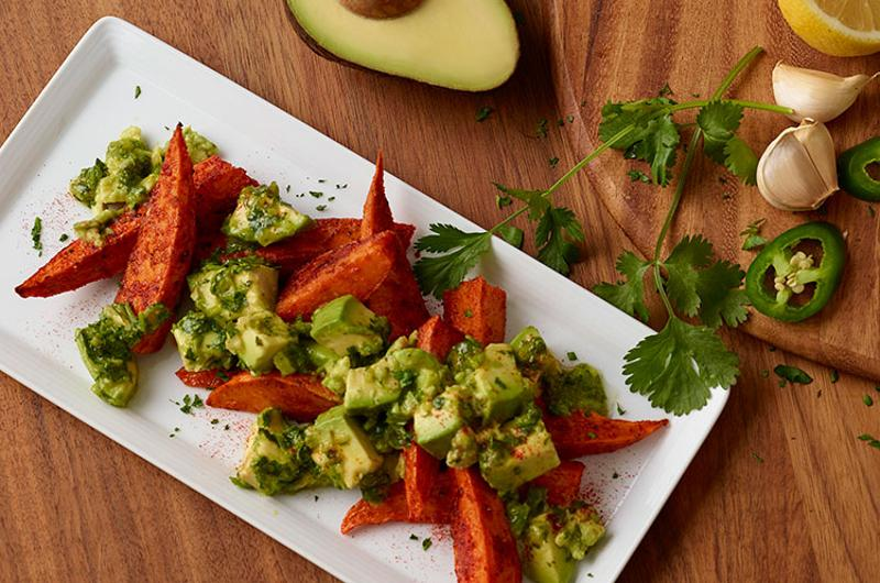 sweet potatoes with chimmichurri