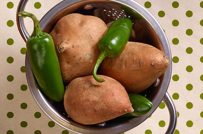 sweet potatoes peppers