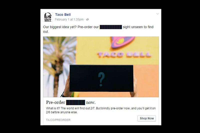 taco bell preorder
