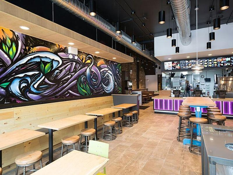 taco bell seating counter