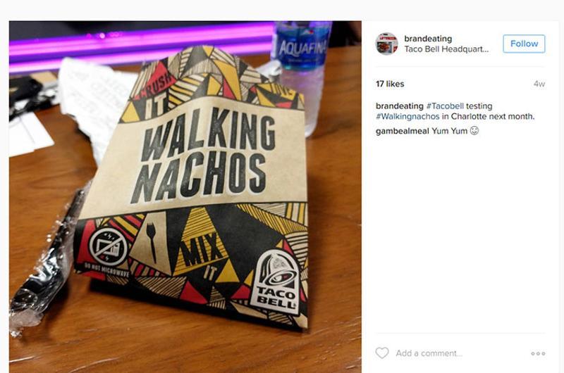 taco bell walking nacho