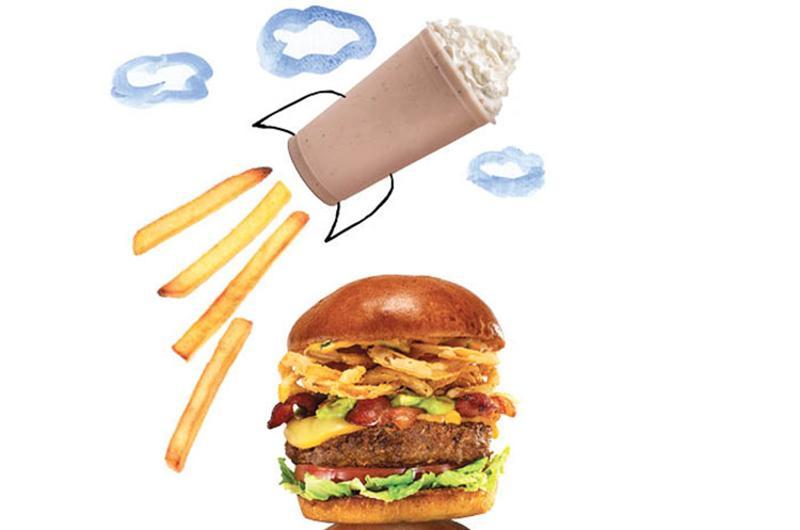 taking off burgers shake