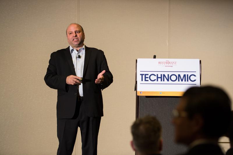 Darren Tristano, Technomic, at Restaurant Leadership Conference, RLC