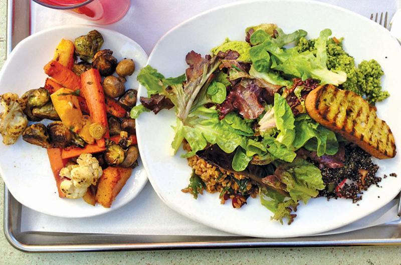 tender greens salad tray