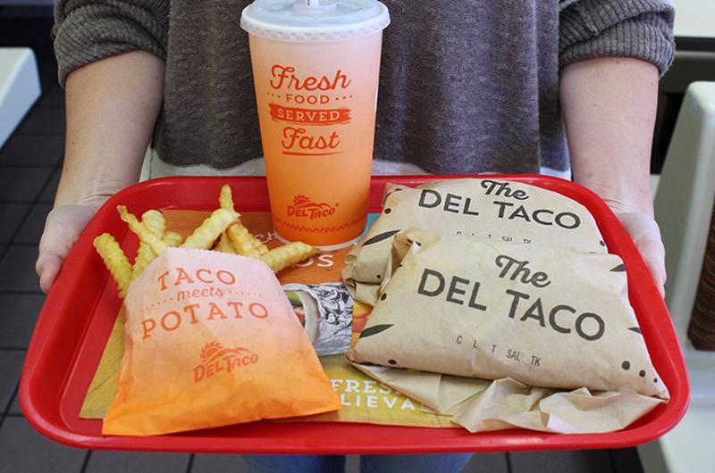 the del taco tray